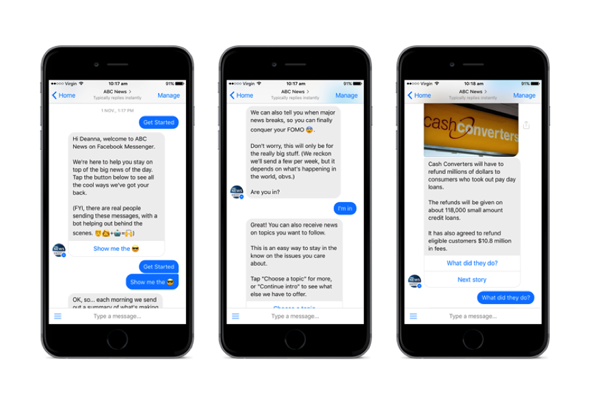 Facebook Messenger – an old channel getting new traction with ABC News